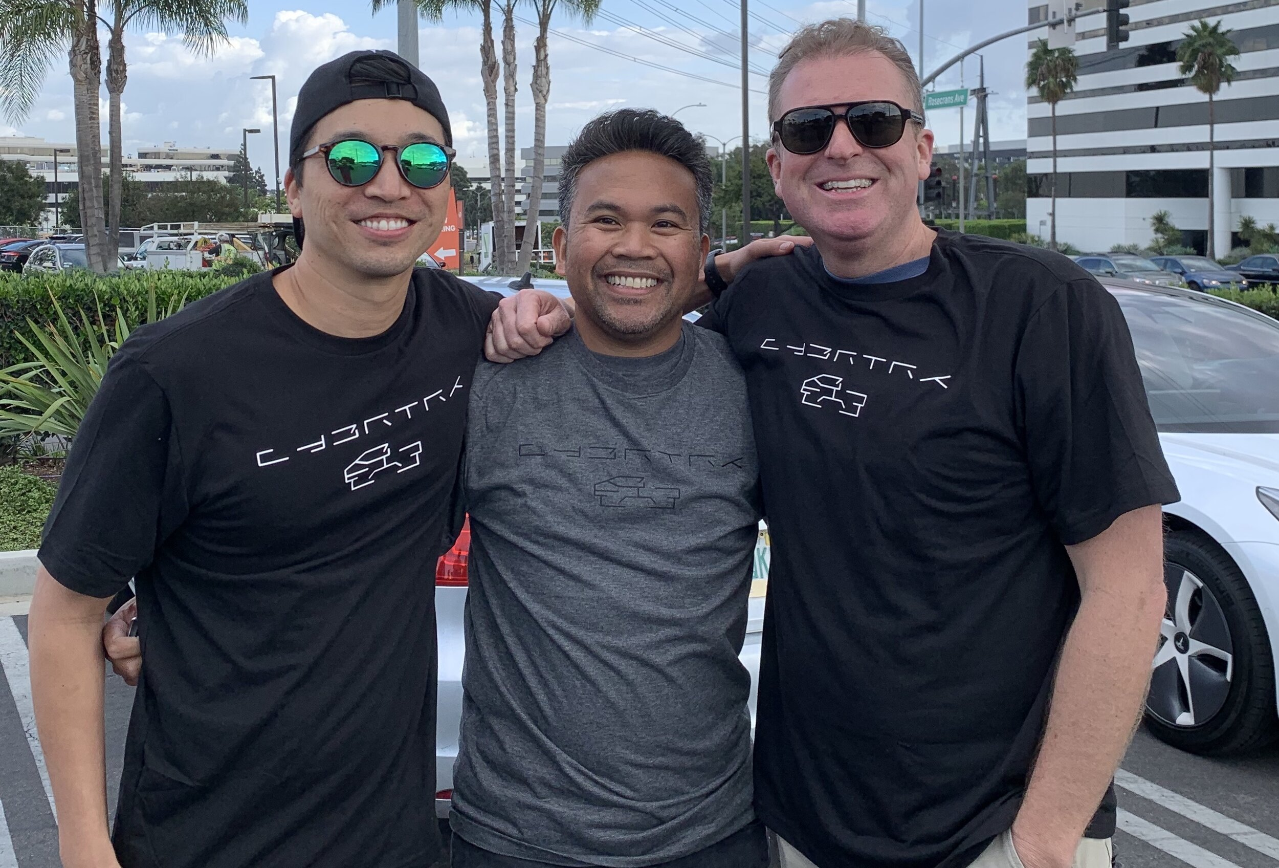 November 21st, 2019 - Tesla Cybertruck unveiling in Hawthorne California. (Pictured L to R): Al, Wilmer, Chad